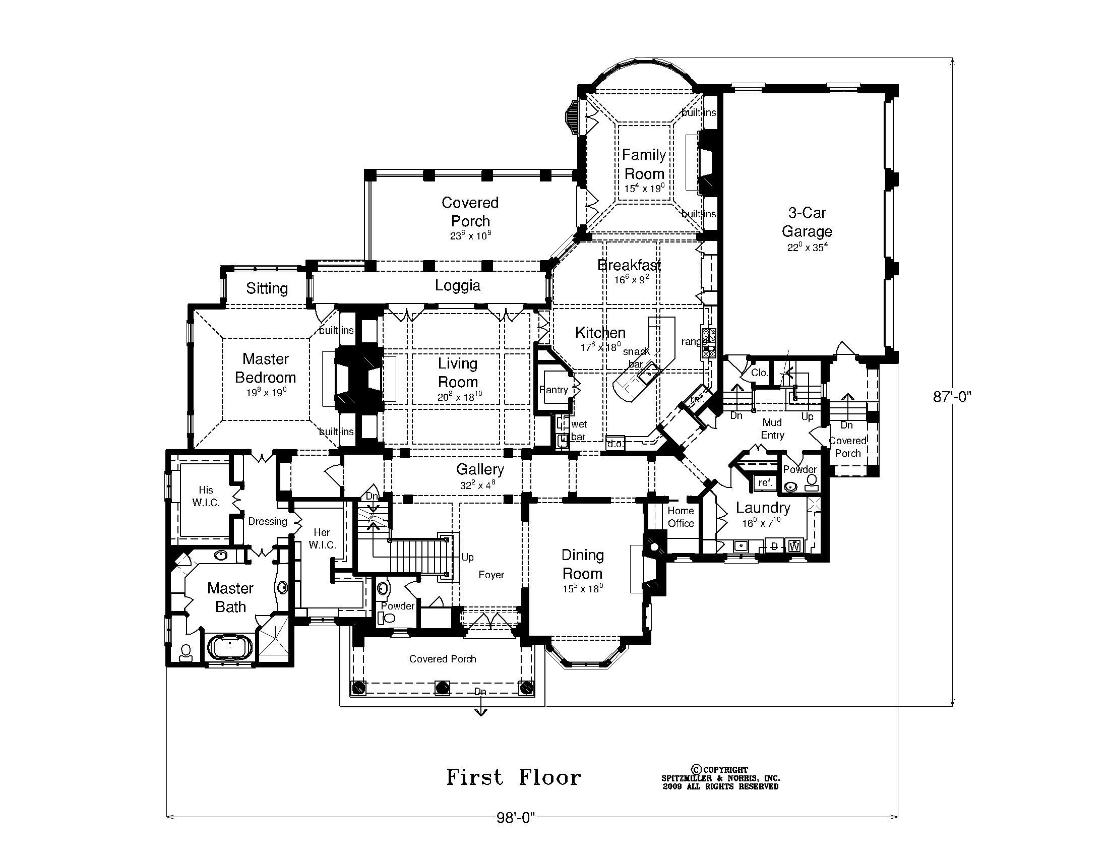 Hudson Valley House First Floor Plan