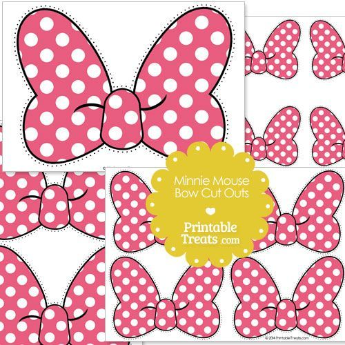 photograph about Minnie Mouse Stencil Printable named Minnie Mouse Bow Template - Cost-free Obtain