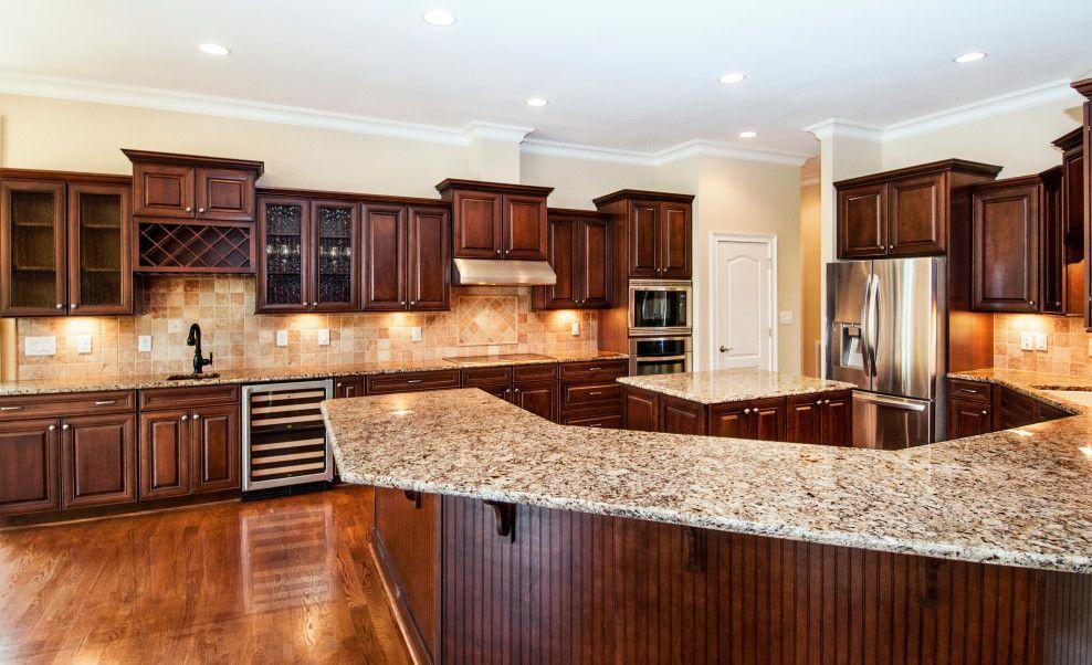 LOVE LOVE LOVE Dark cabinets. maple kitchen with black and ... on Maple Cabinets With Black Countertops  id=18590