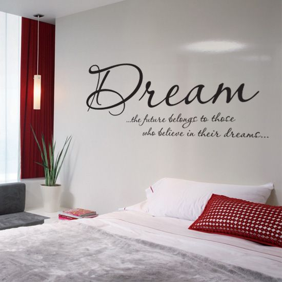 bedroom wall text sticker | home: bedroom ideas | pinterest