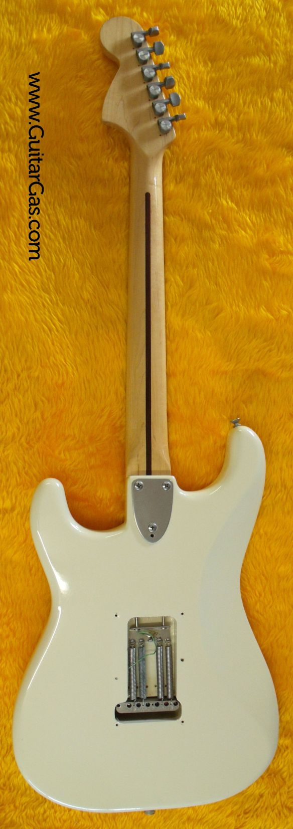 The back of an 80s made in Japan stone logo Fernandes Strat copy.
