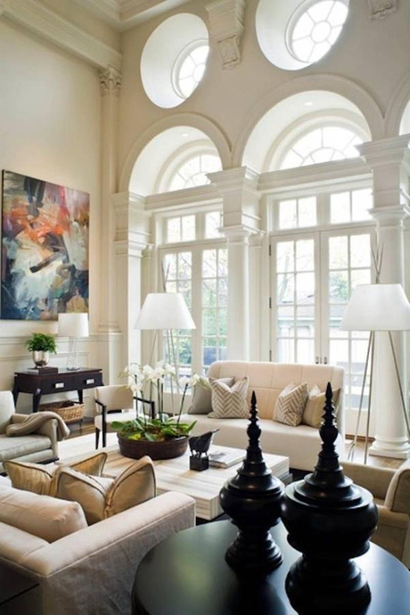14 Ides Pour Dcorer Un Salon Avec Un Trs Haut Plafond