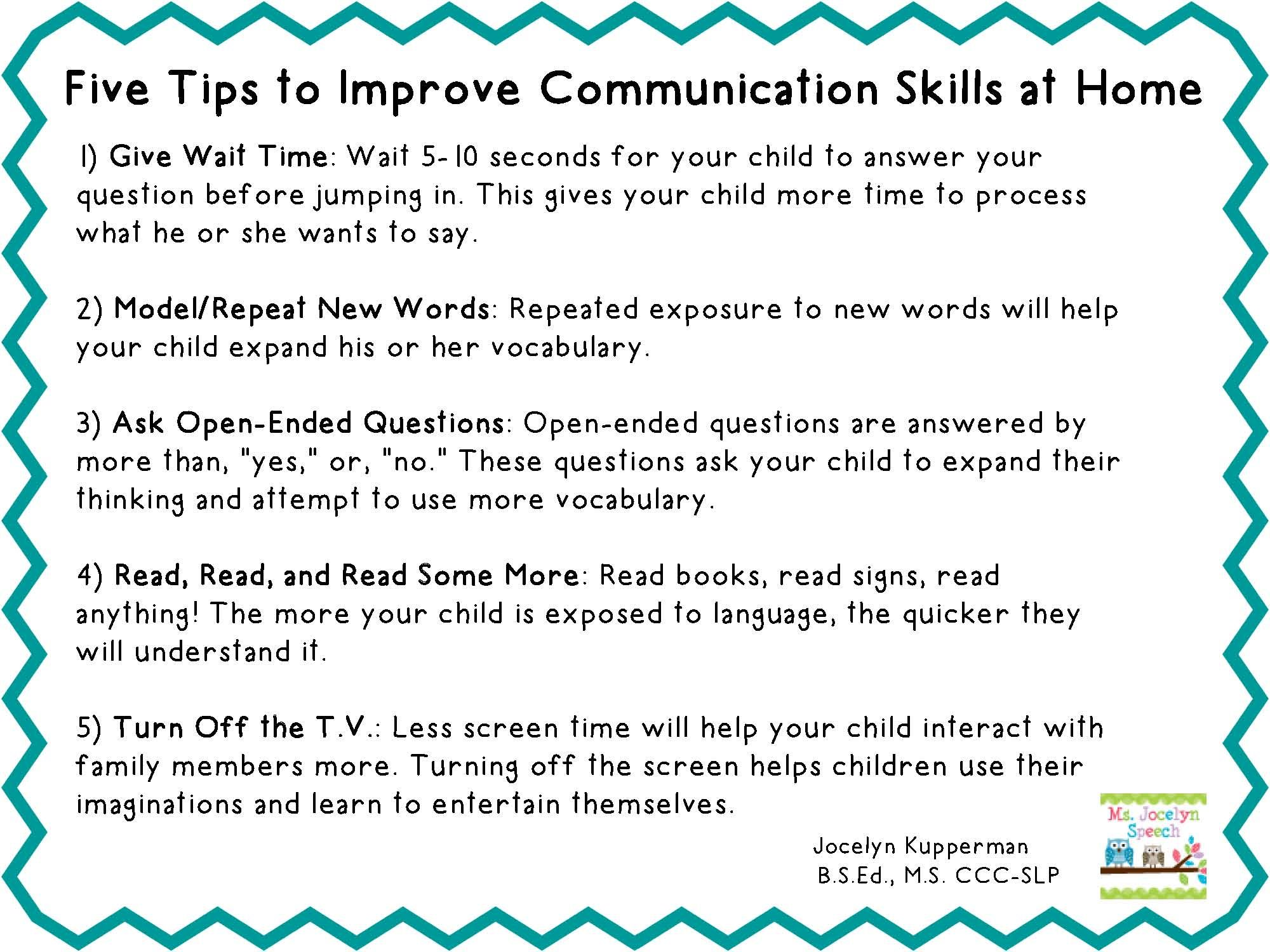 5 Tips To Improve Communication Skills At Home