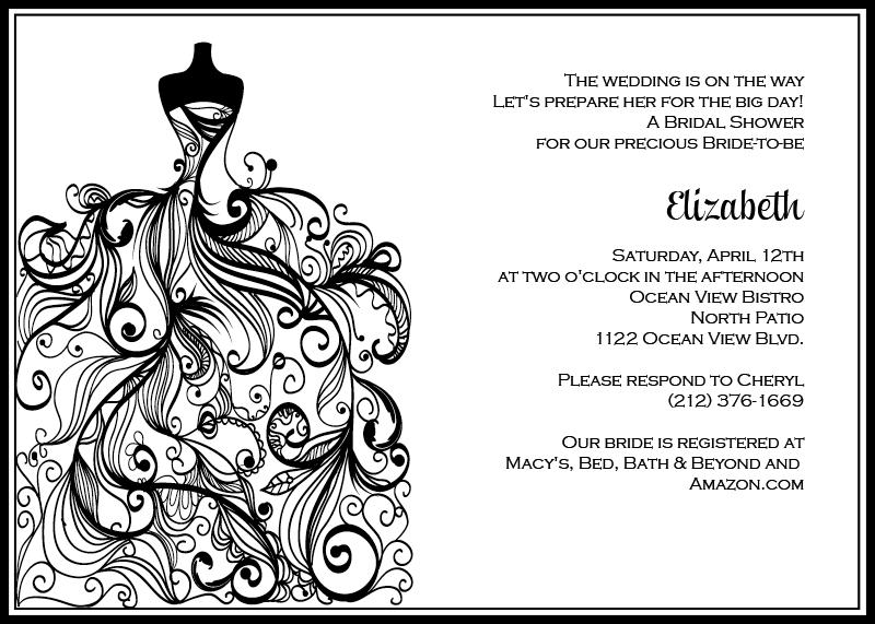 black and white wedding invitations templates