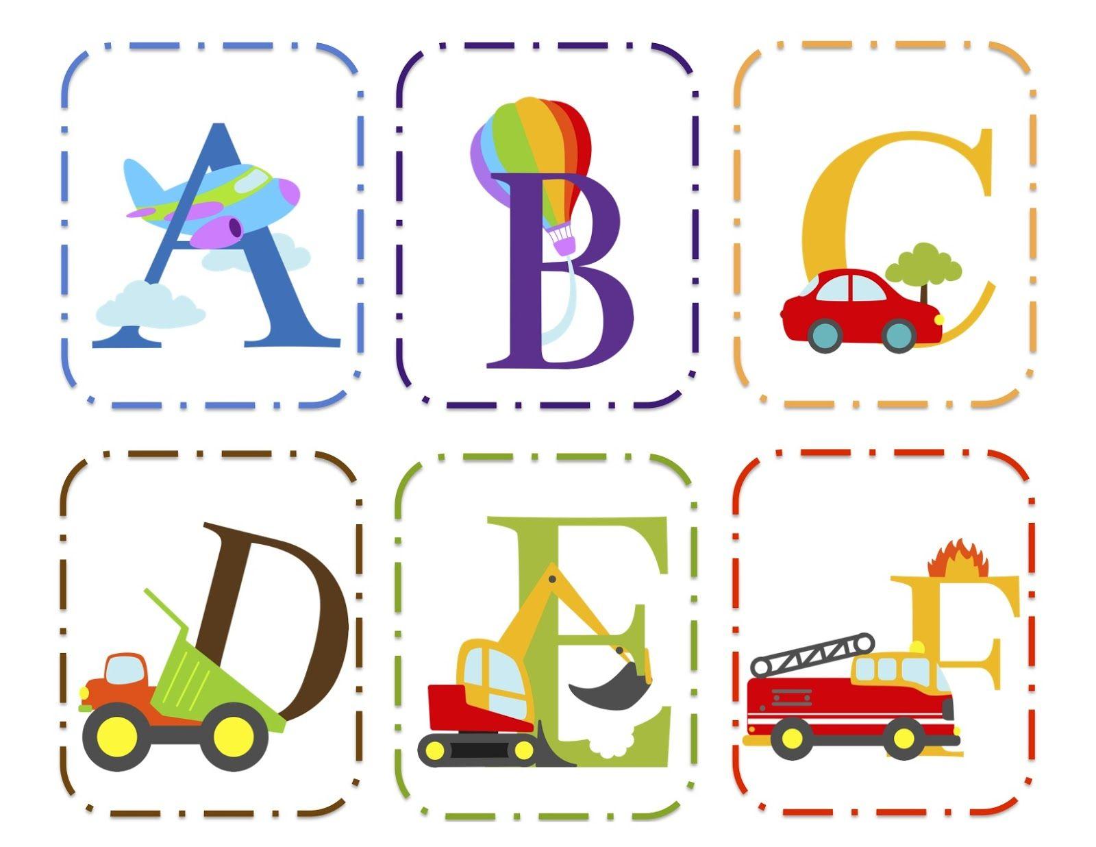 Preschool Printables Transportation Alphabet Cards