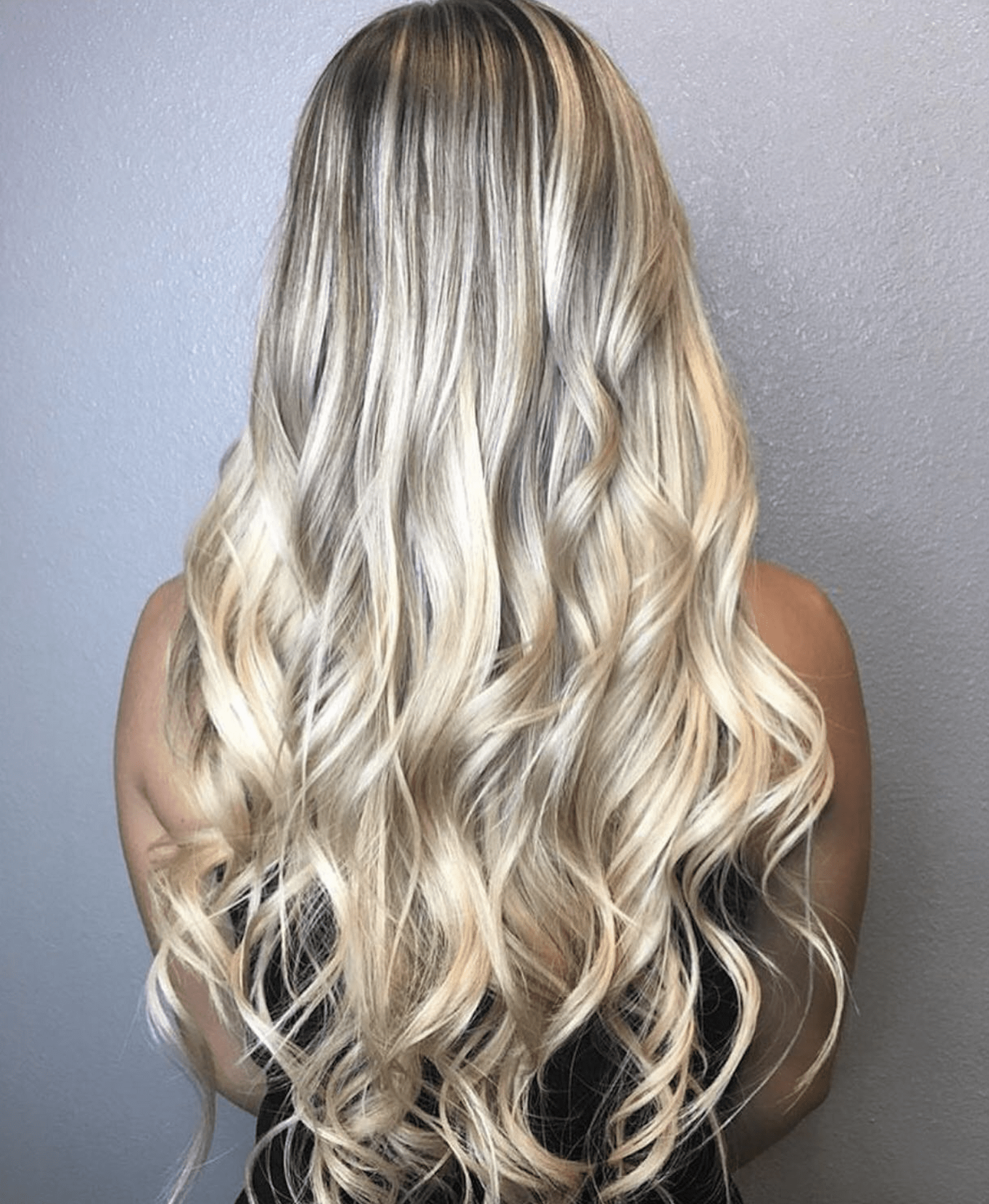 Platinum Blonde Tape In Hair Extensions Glam Seamless