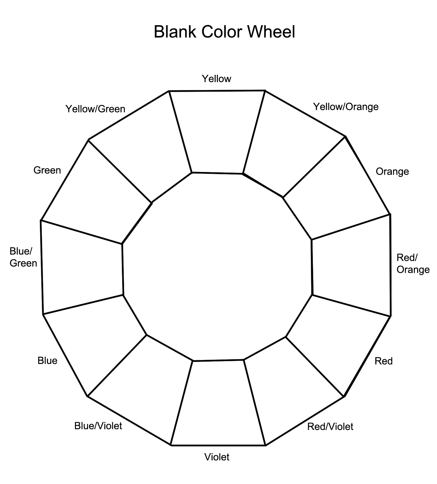 12 Section Colour Wheel