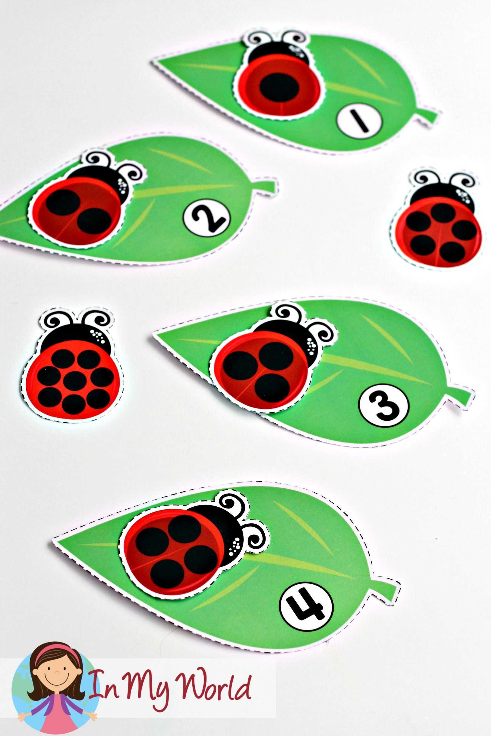 Spring Preschool Centers Ladybug Dots And Numeral Leaves Match Myworld