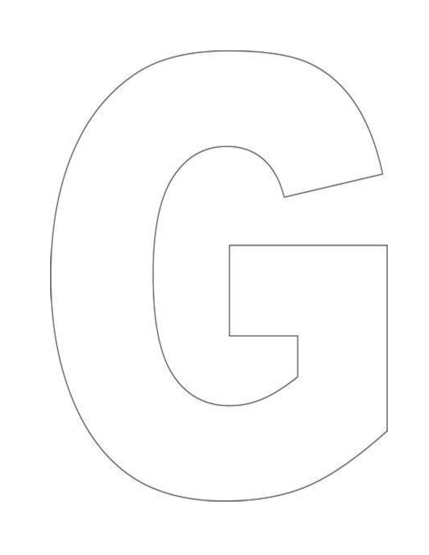 Large Letter G Coloring Pages Sketch Coloring Page