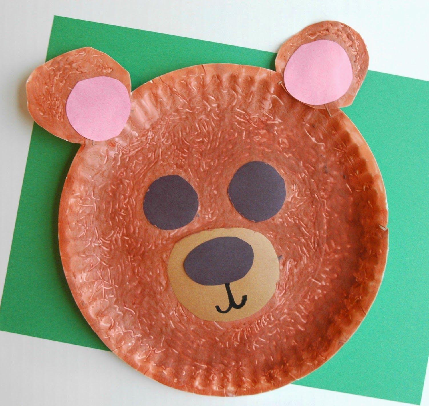 Fuzzy Brown Bear Craft