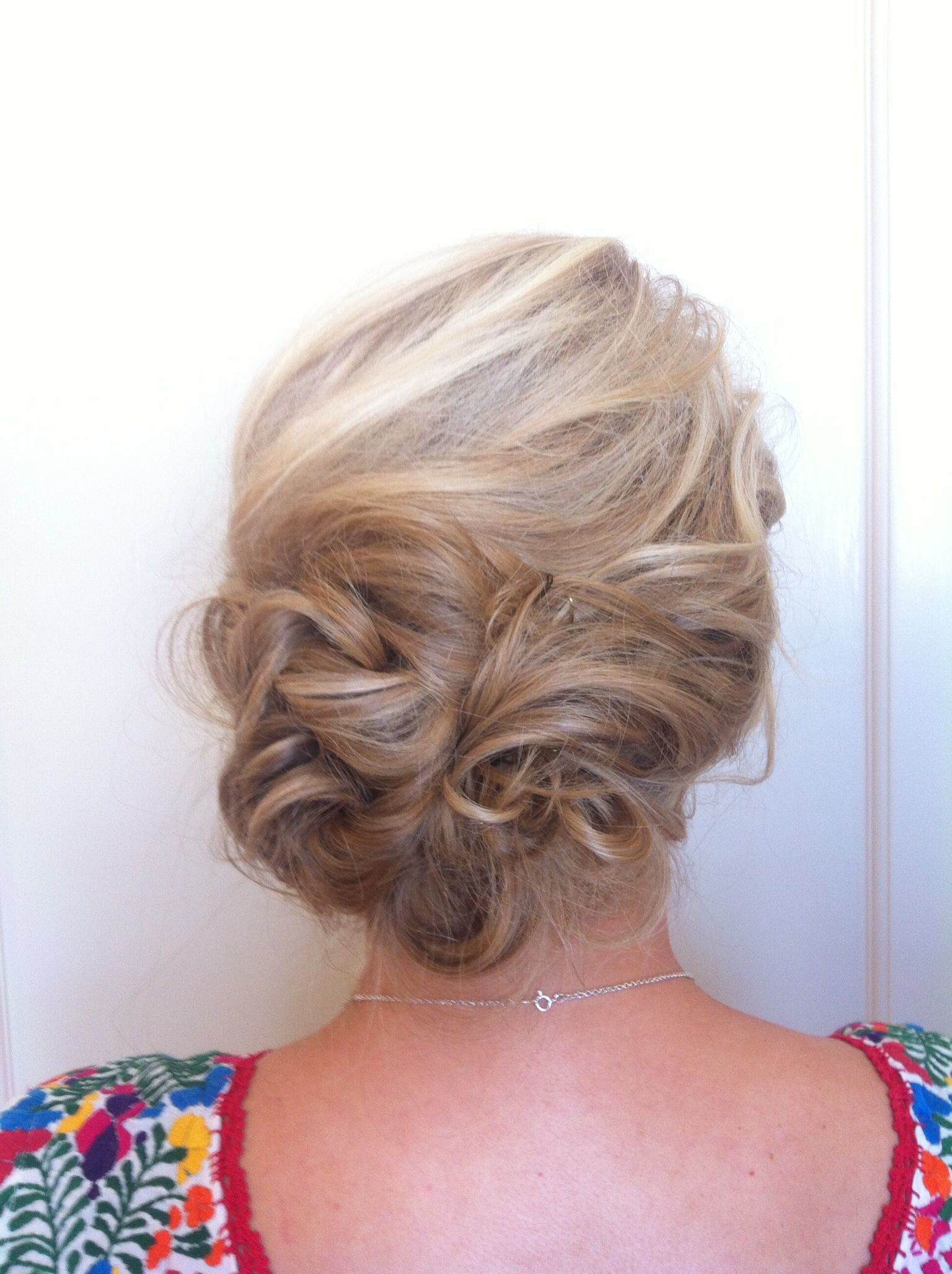 Romantic side bun My hair creations Pinterest