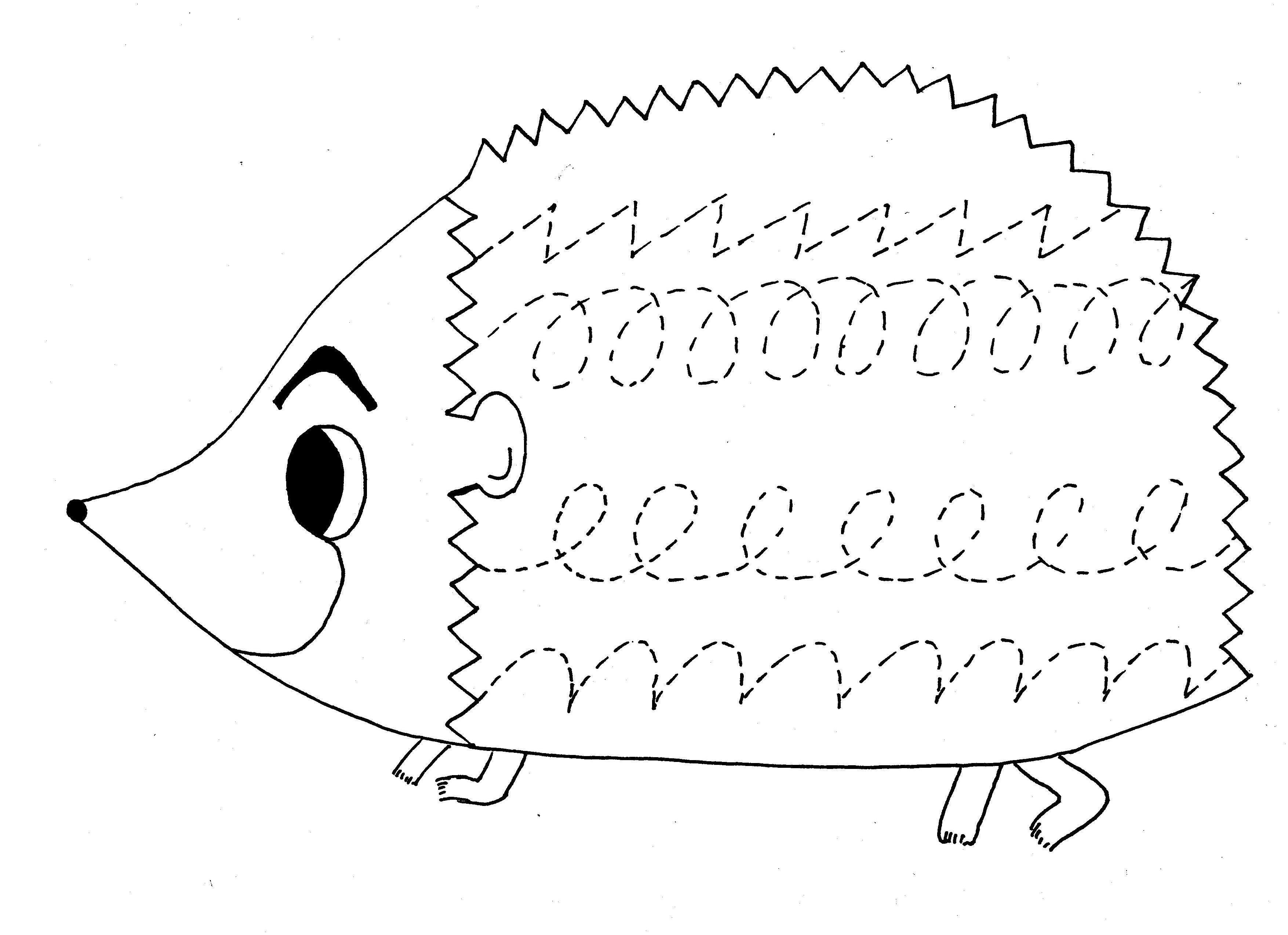 Eschoolactivities Animals Trace Line Worksheet For Kids