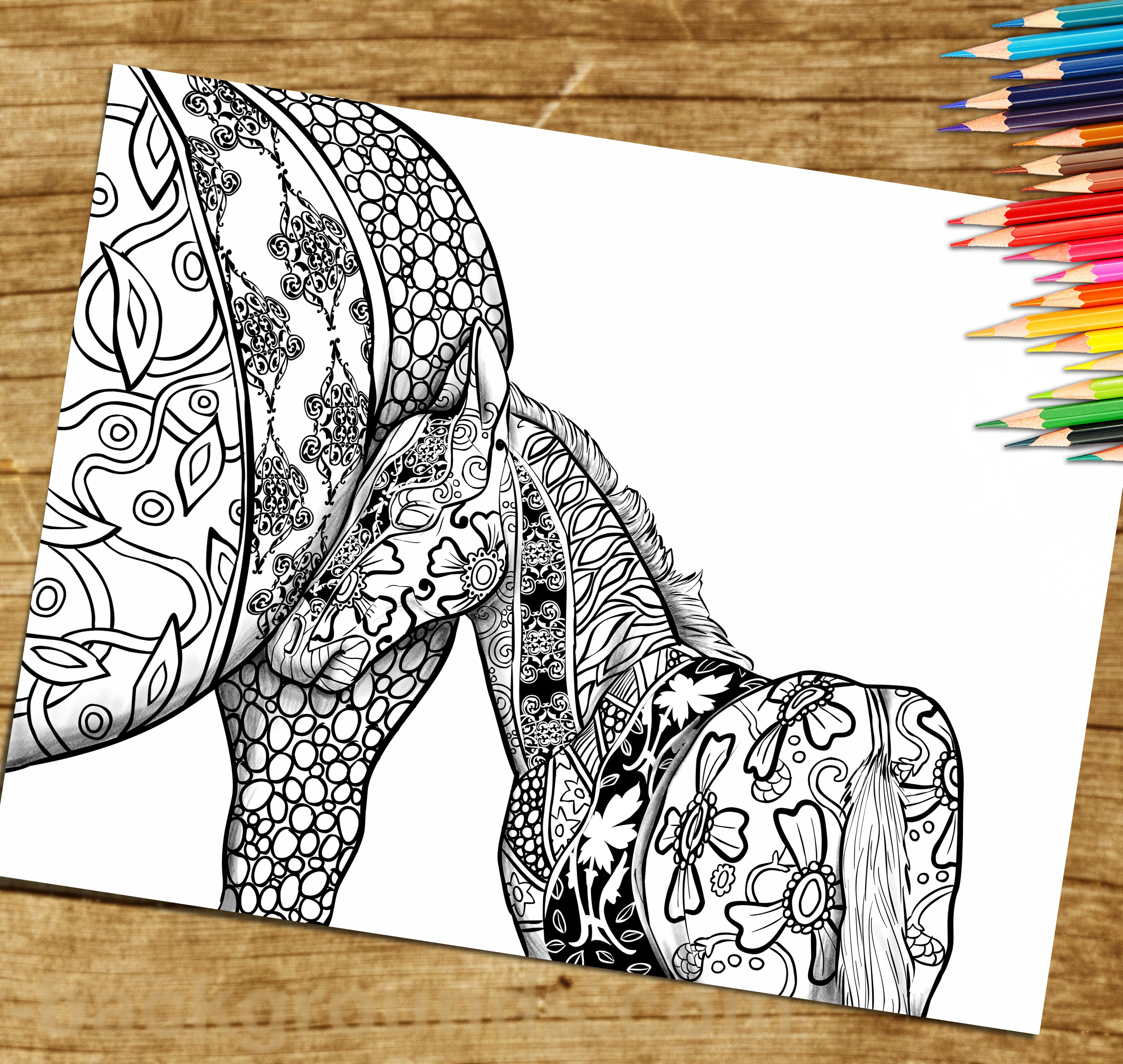 Adult Coloring Book Page From Coloring Book For Adults