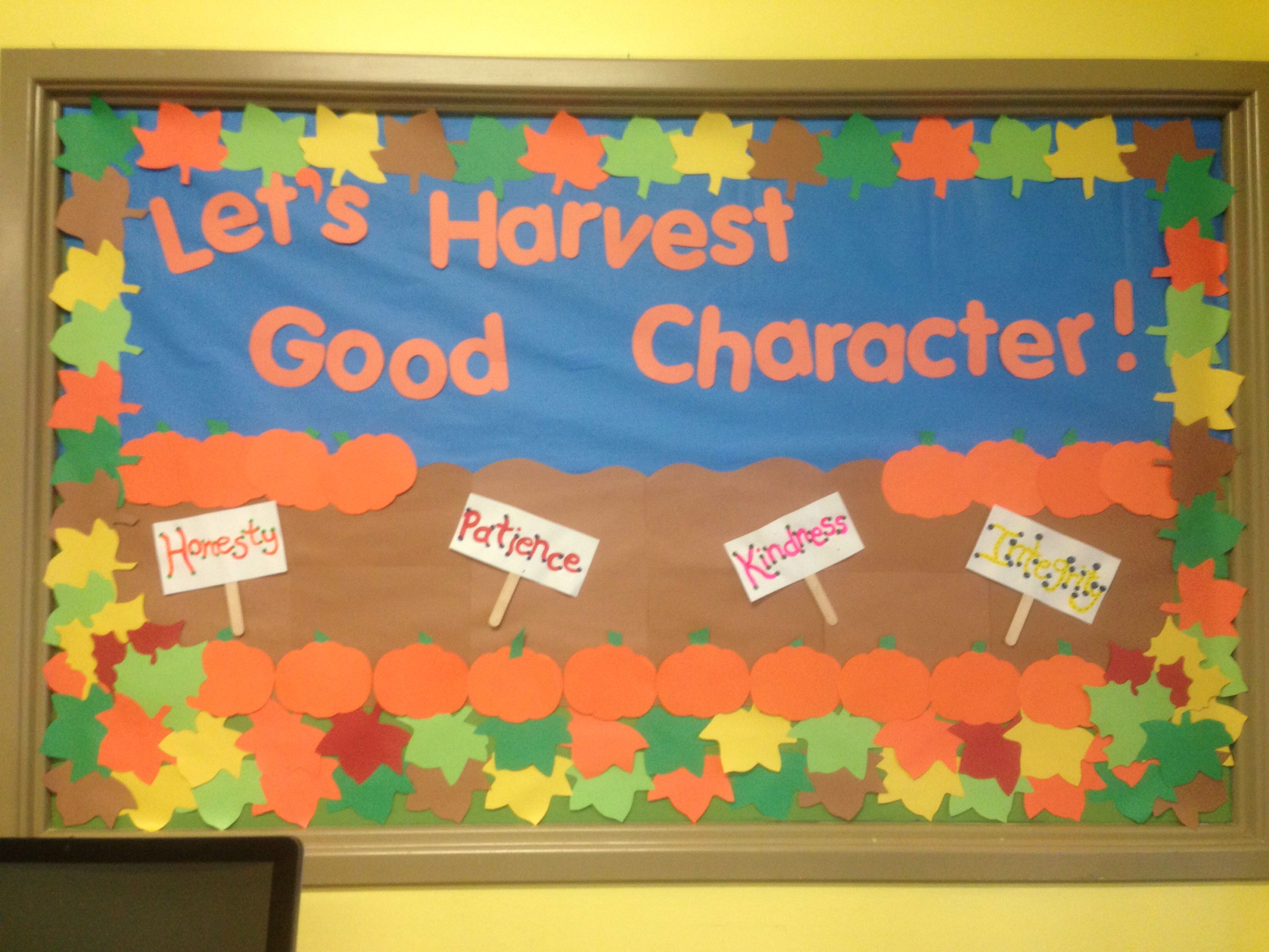 Let S Harvest Good Character Fall Bulletin Board For