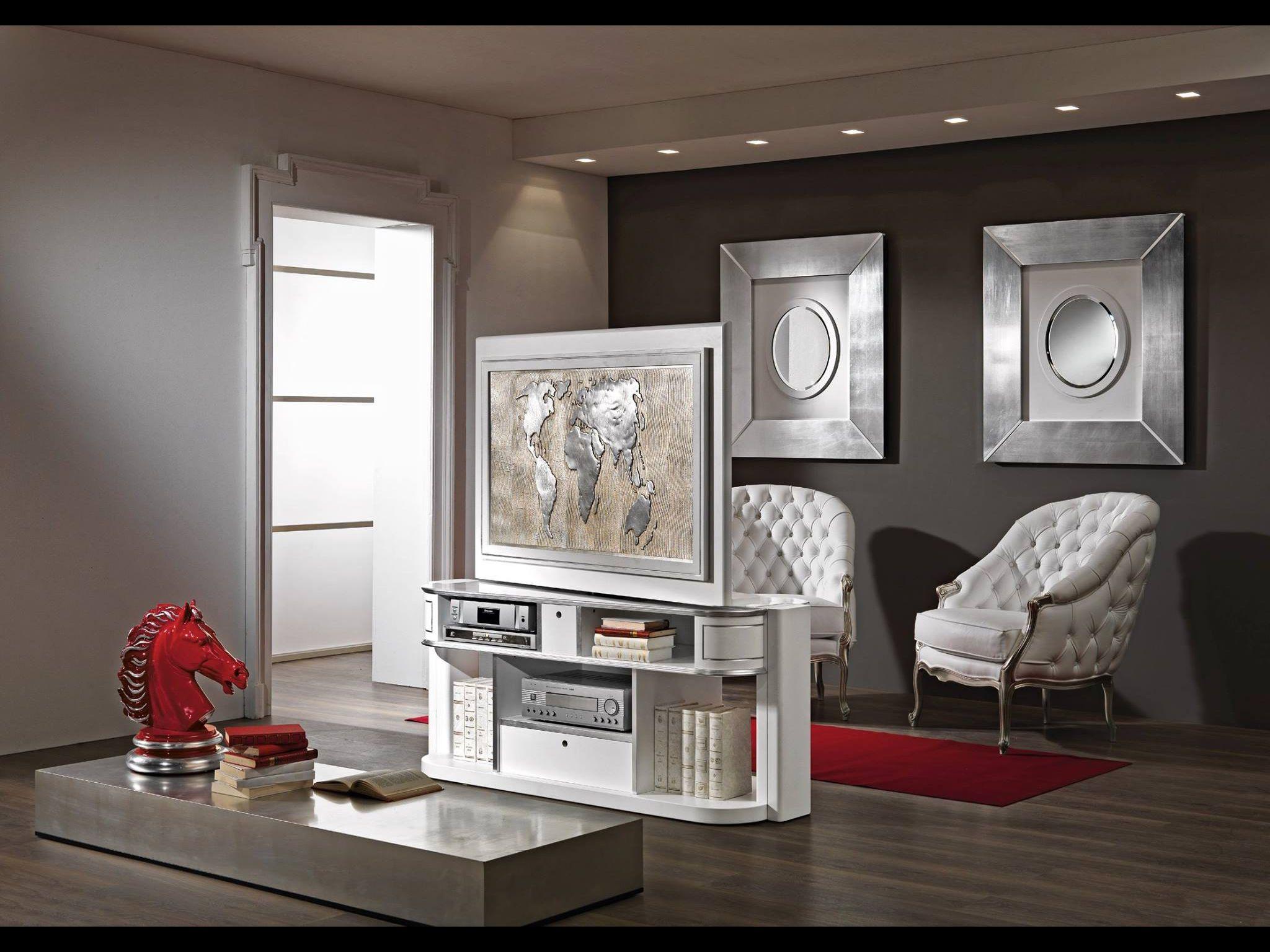 Revolving Tv Stand Vismara Design For Middle Room Tv Turn