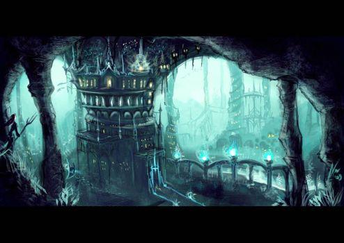 Image result for fantasy city underground