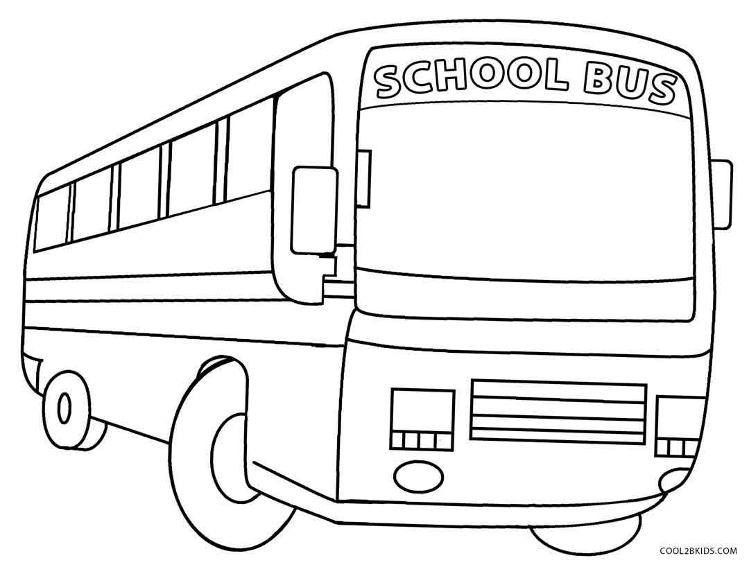Printable School Bus Coloring Page For Kids