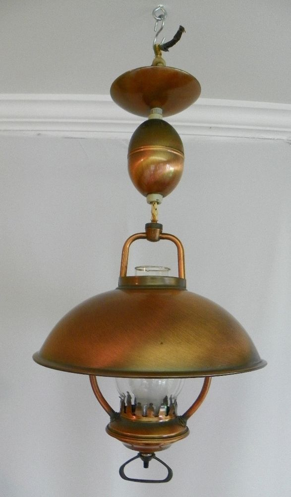 Vintage 1960s Hanging Ceiling Light Pull Down