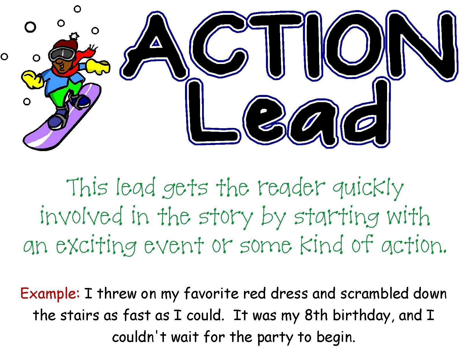 Action Lead And Five Others To Help Your Students Add