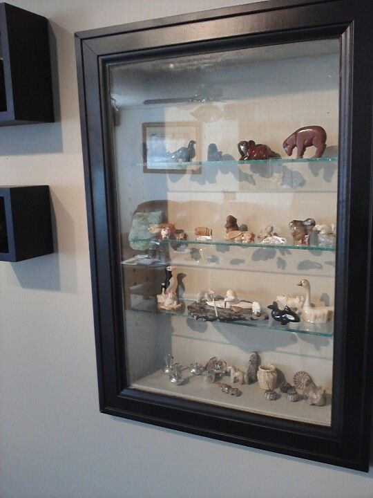I Built These Wall Niches With Glass Shelves For