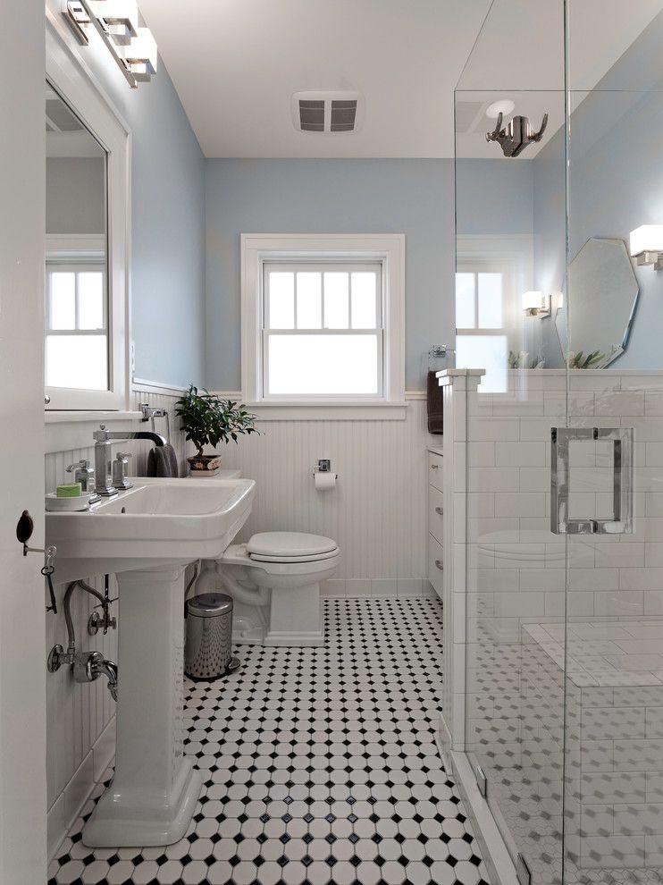 Blue And White Bathroom Bathroom Victorian With Black White Bathroom Renovation