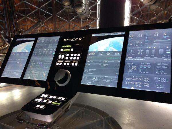 SpaceX Dragon V2 control panel Imgur Aerospace