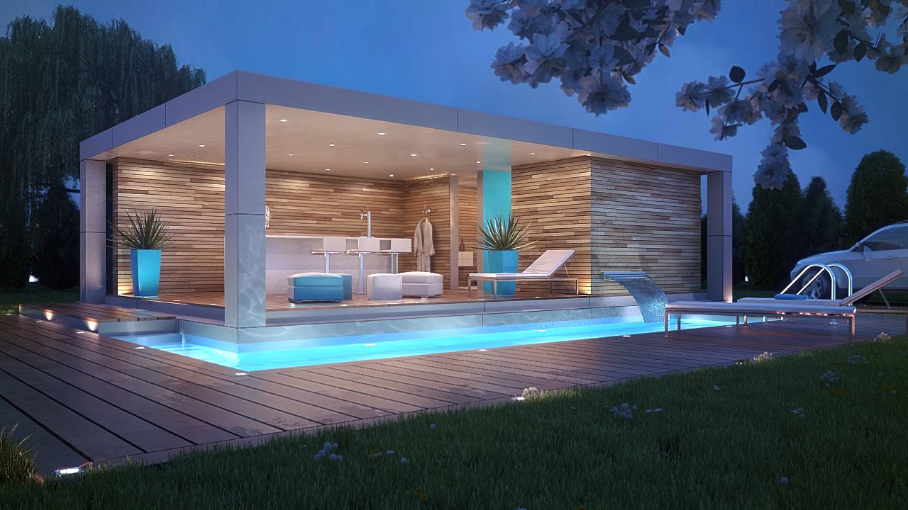 Pool Houses, House And Pool House