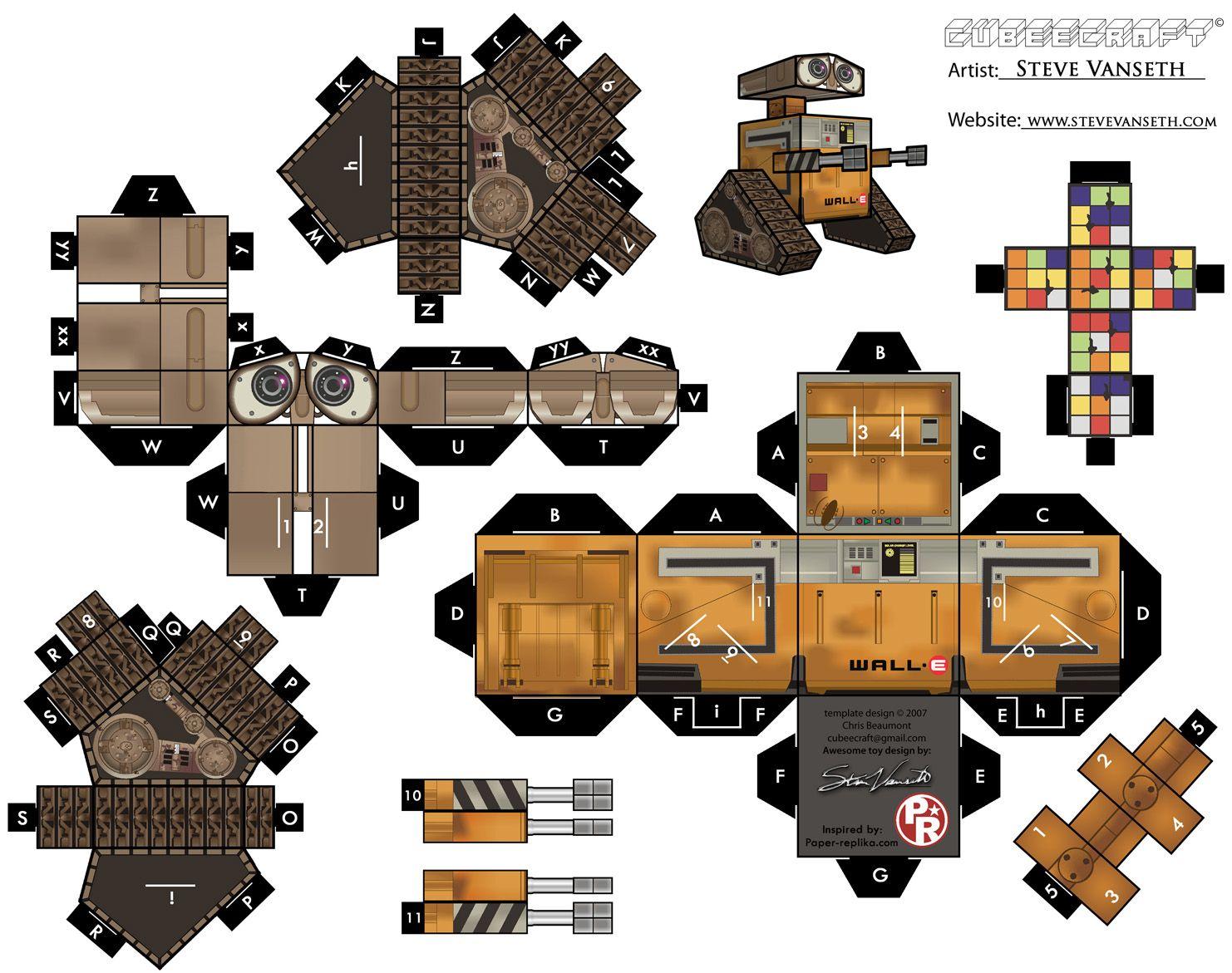 Wall E Cubeecraft