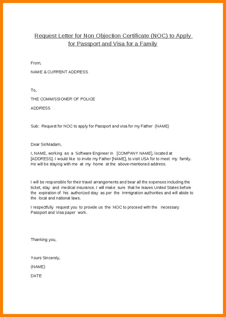 request letter for family visa mofa