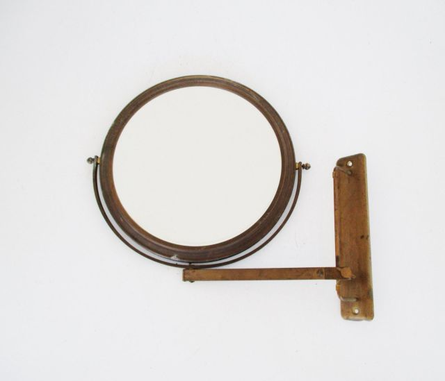 Antique Shaving Mirror Wall Mounted Adjustable Mirror Industrial