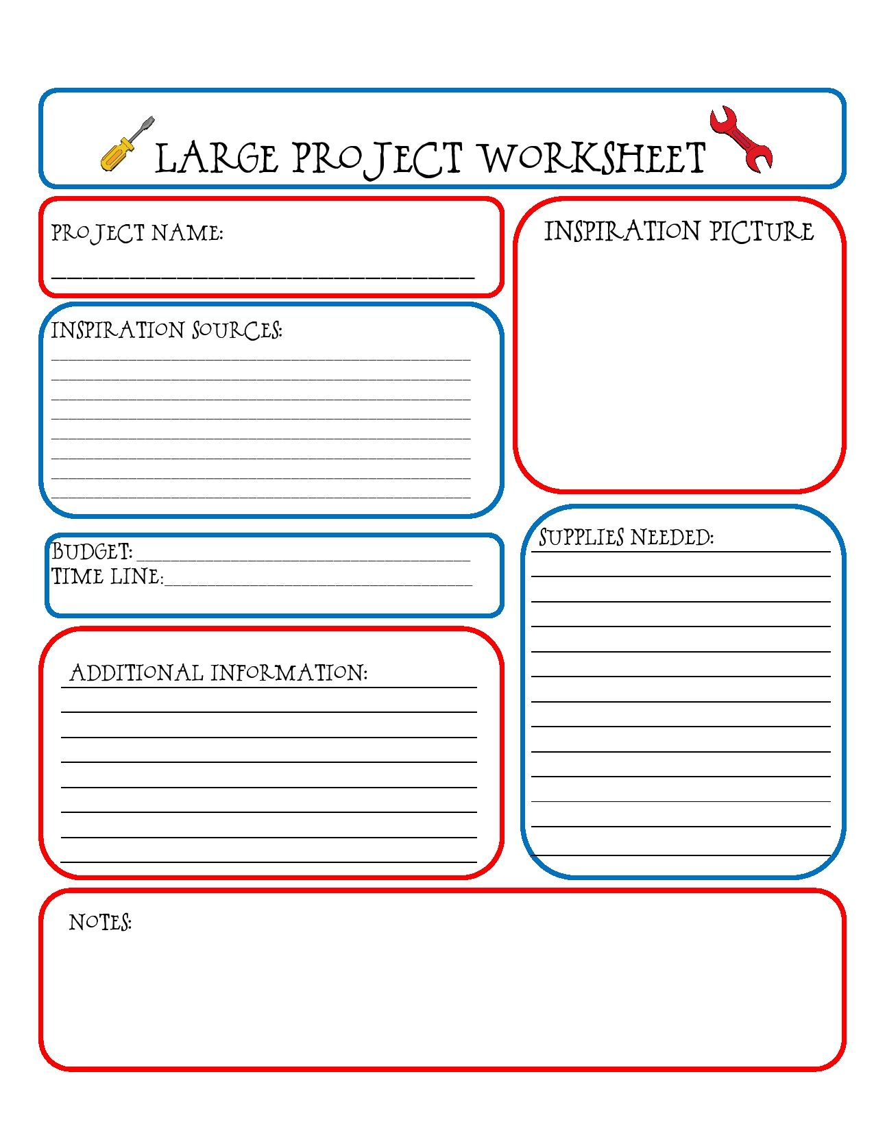 Large Project Worksheet