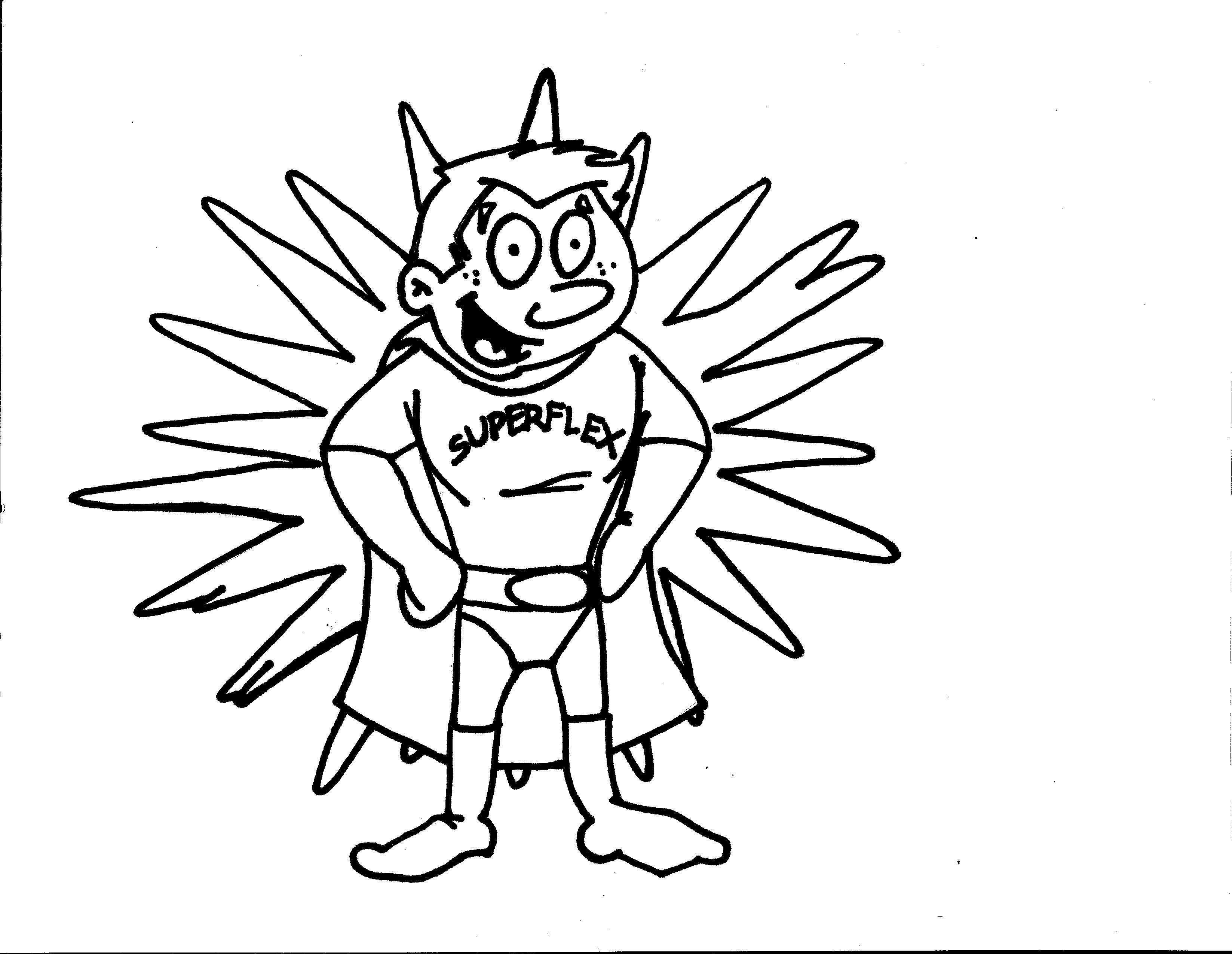 Superflex Coloring Page For Each Character Identify The