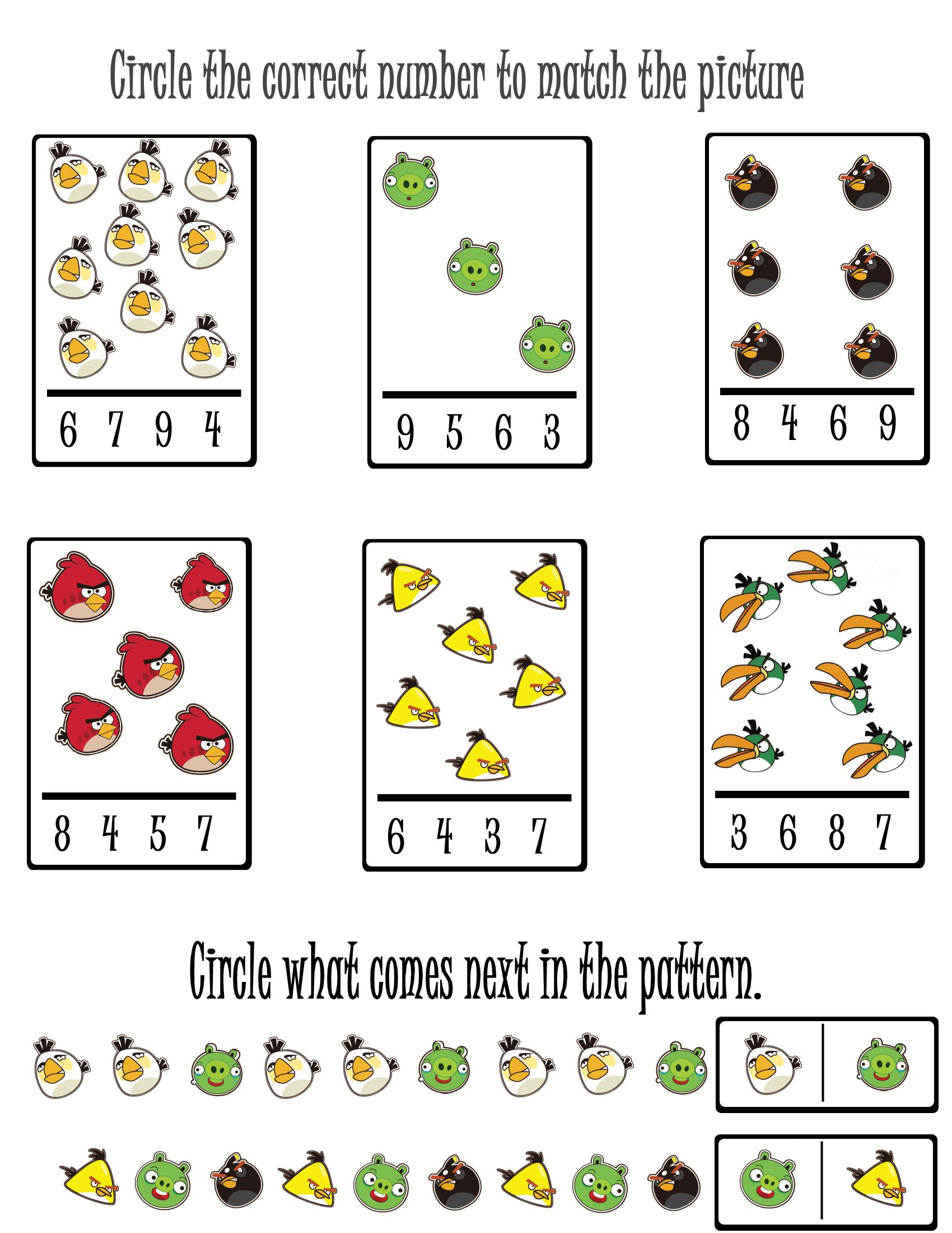 Free Angry Birds Printables