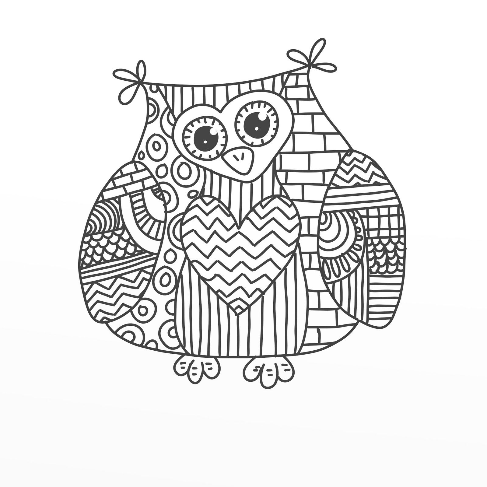 Colour In Google Search Outlines Pinterest Owl