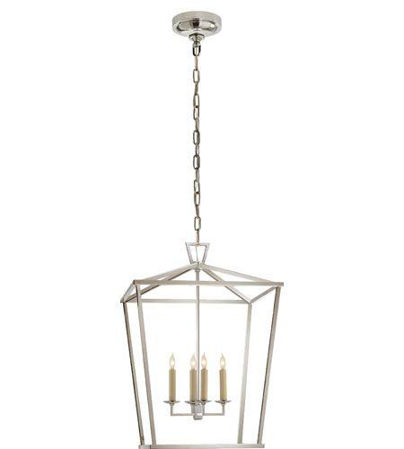 Visual Comfort Chc2165pn E F Chapman Darlana 4 Light 17 Inch Polished Nickel Foyer Lantern Ceiling