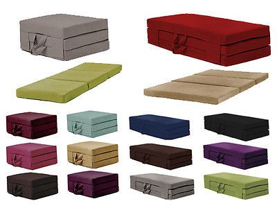 Fold Out Guest Mattress Foam Bed Single Double Sizes Futon Z Folding Sofa In