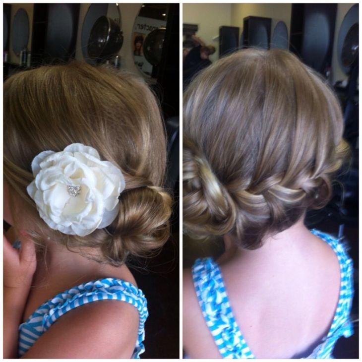 Flower girl hair testhair wedding hair