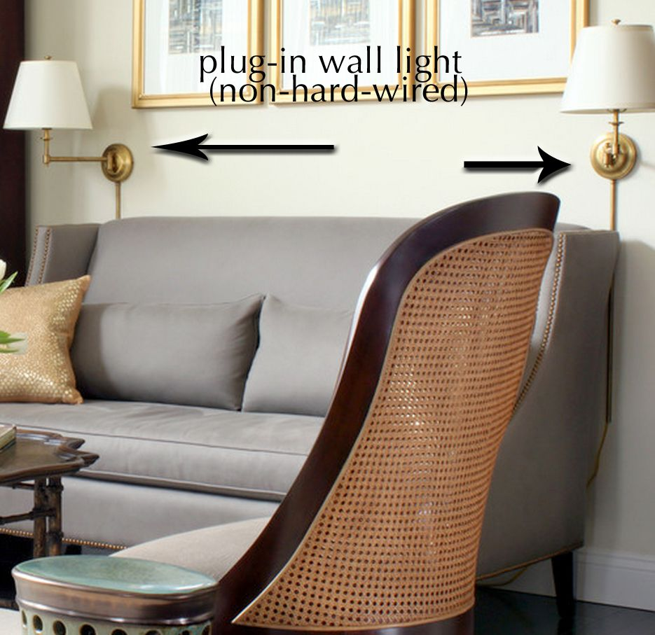 example of non-hardwired/plug-in sconces or wall lights ... on Non Wired Wall Sconces id=14956