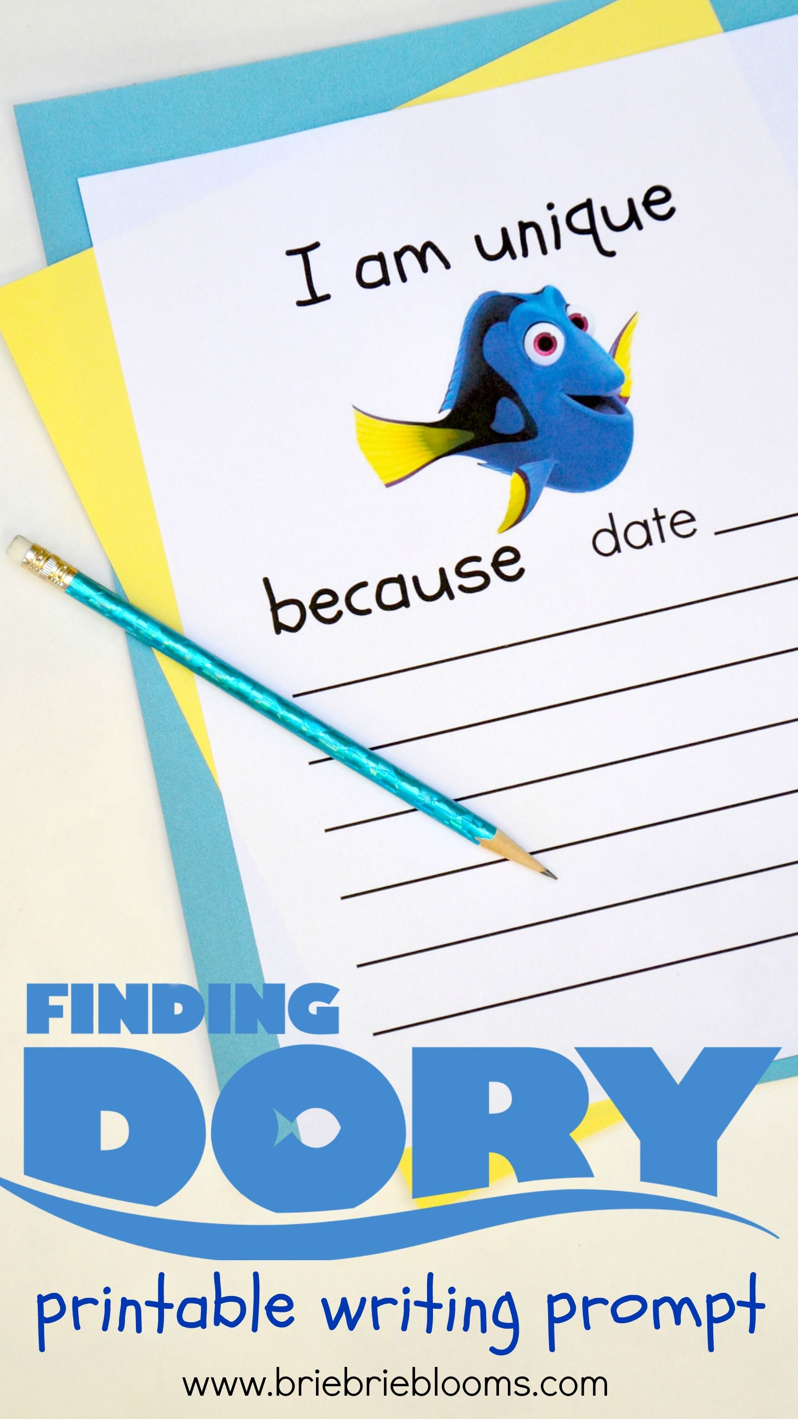 The Free Printable Finding Dory Writing Prompt Is A Great Activity To Help Children Gain
