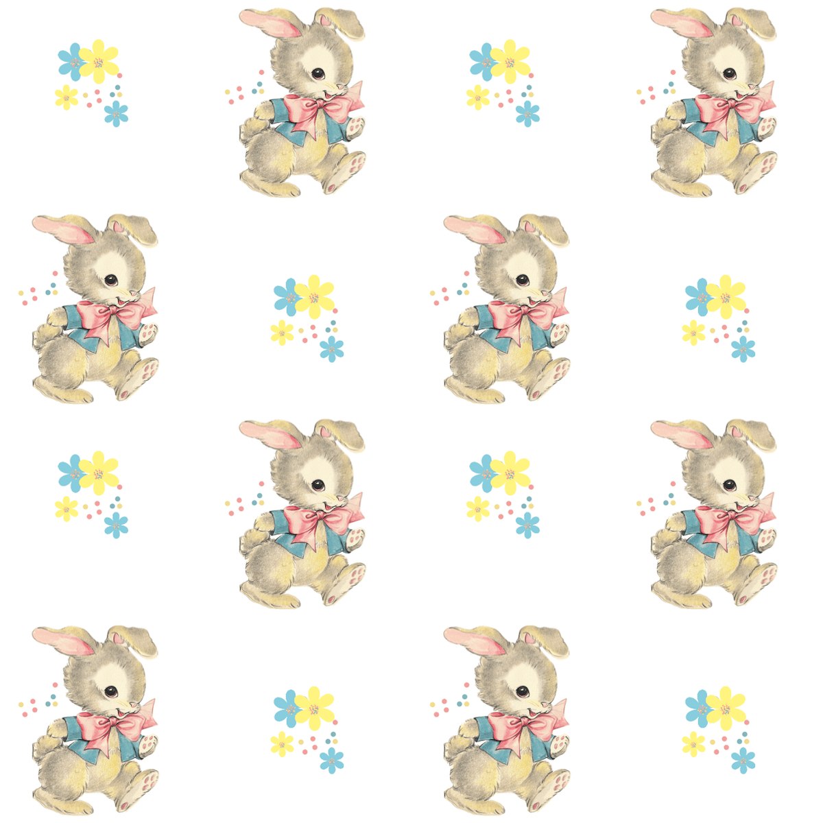 Free Printable Vintage Bunny Paper Cute For Children Ts And Easter