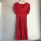 Anthropologie u deletta red empire waist dress tea length