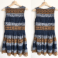 Maeve yellow blue striped lace crochet dress anthropologie