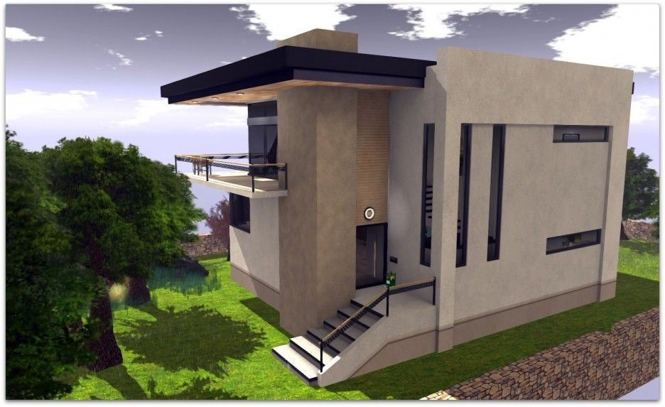 Ultra Modern Concrete House Plan