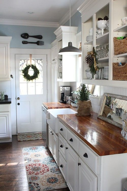 the most beautiful christmas cottage decor ideas kitchens patios and farmhouse kitchens on farmhouse kitchen wall colors id=81339