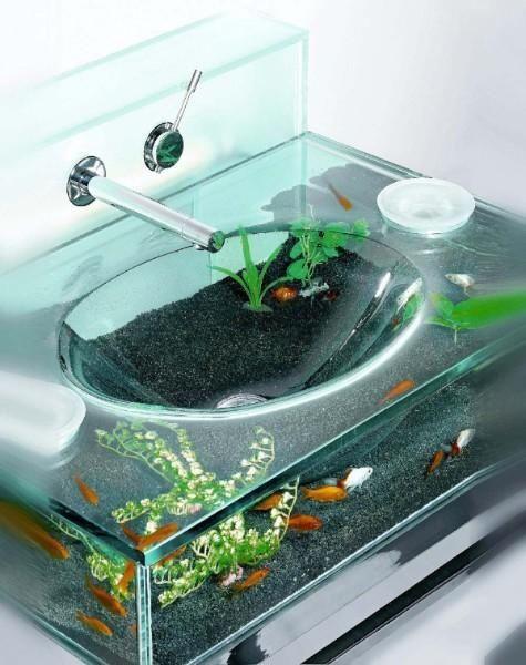 modern bathroom sinks | glass fish bowl, bowl sink and sinks