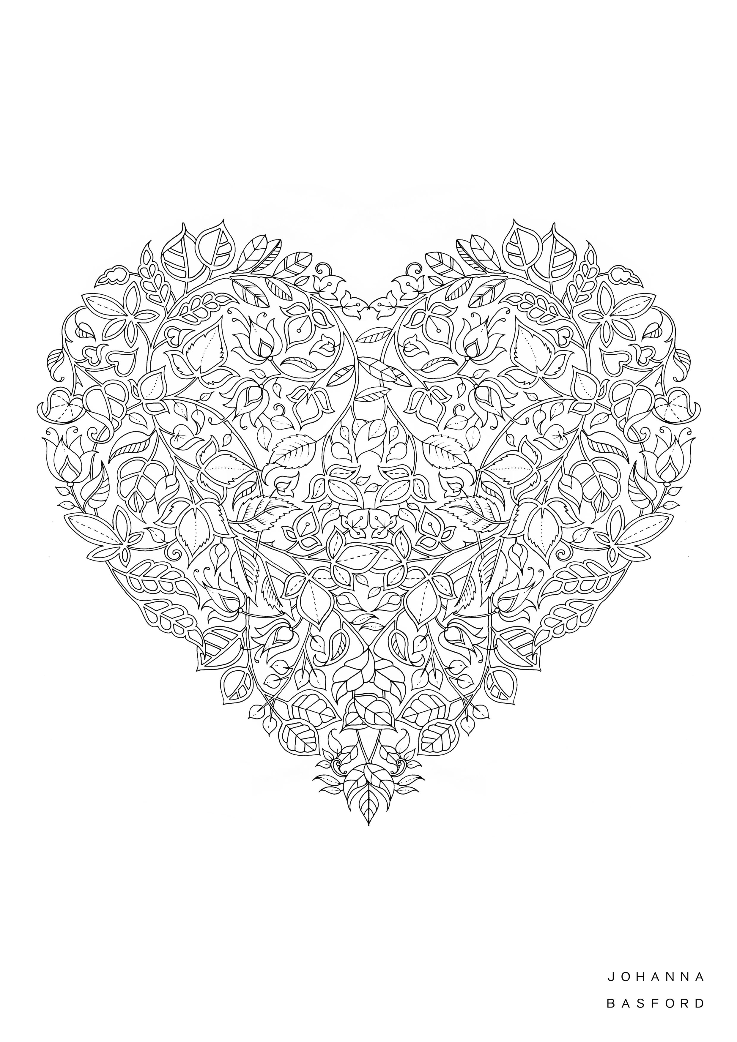 Johanna Basford Valentines Colouring In JB Pinterest