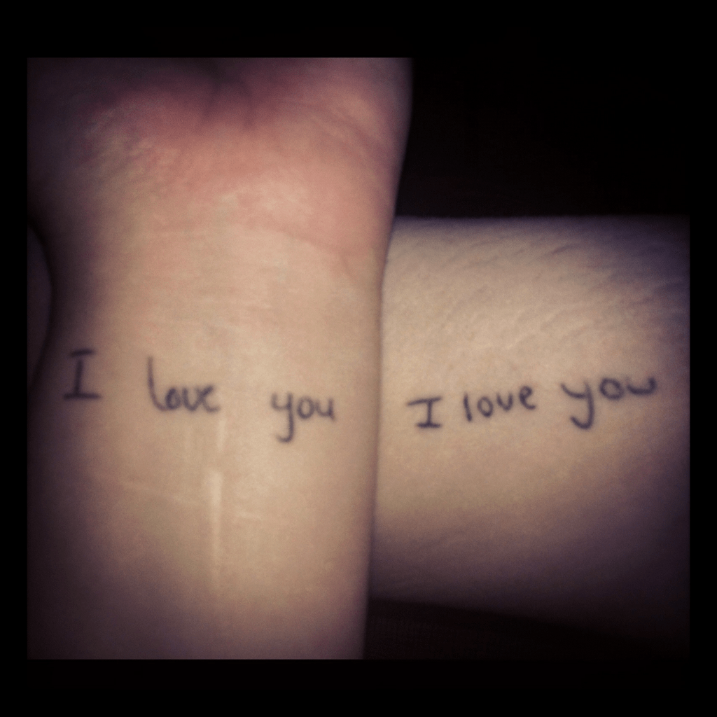 I Love You Tattoos In Each Others Handwriting After