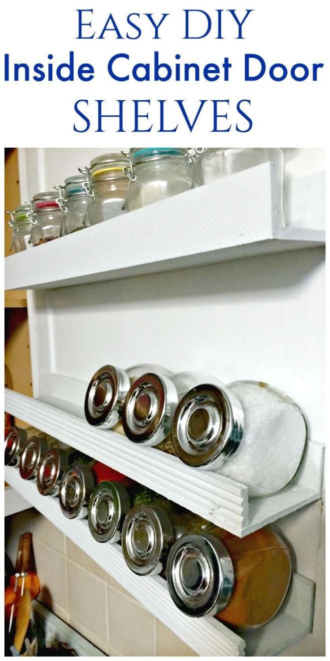 Diy inside door shelf inside door