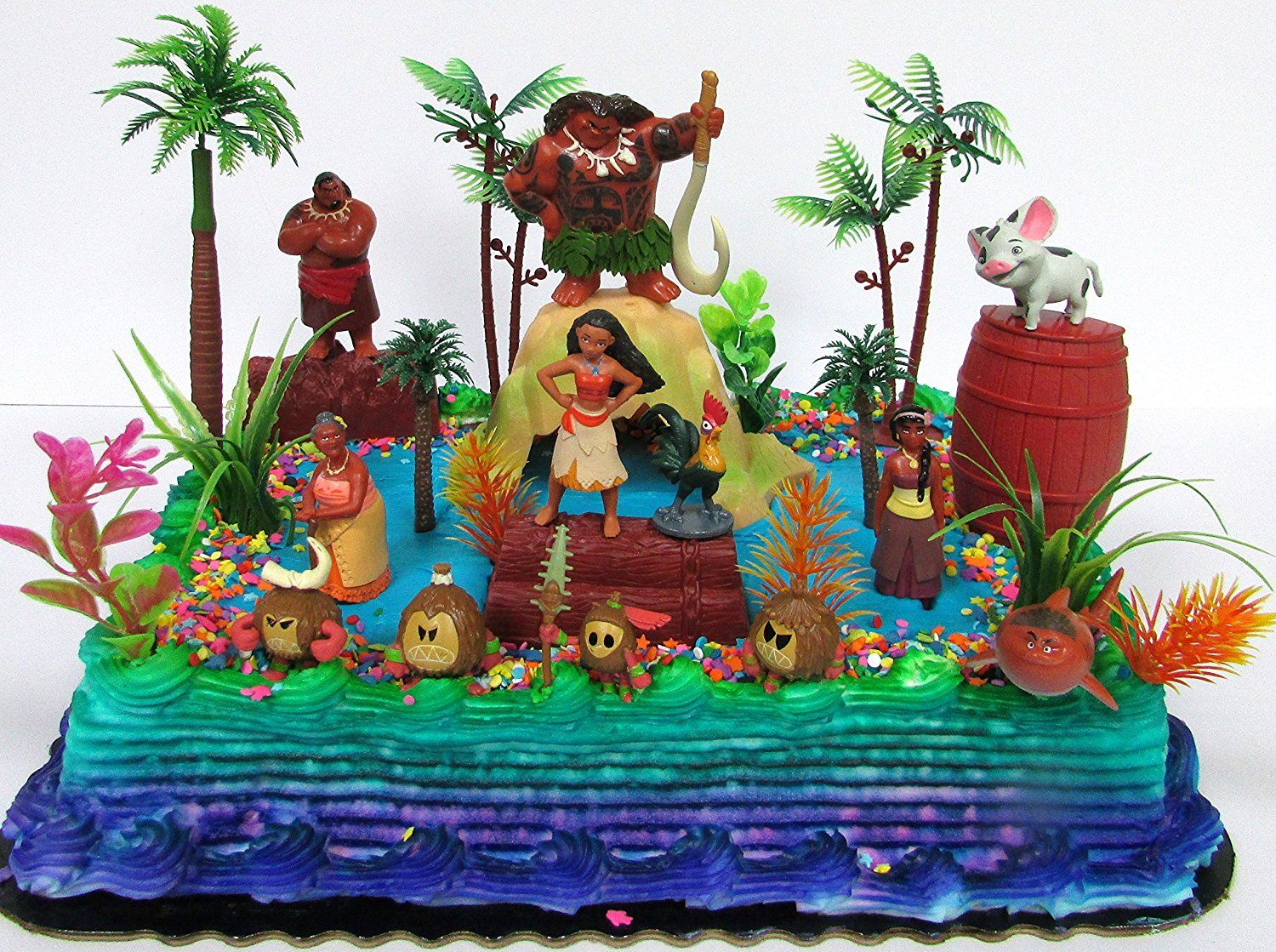 Amazon Moana Birthday Cake Topper Set Featuring