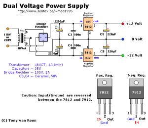 Fuente de voltaje simétrica de 12 Volts | Power Supply